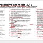 Trondheimsmanifestet 2015-2